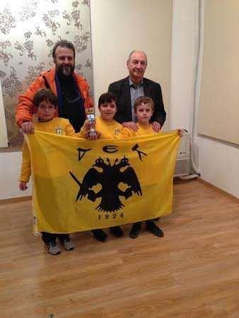 Το Κύπελλο στους 8χρονους της ΑΕΚ