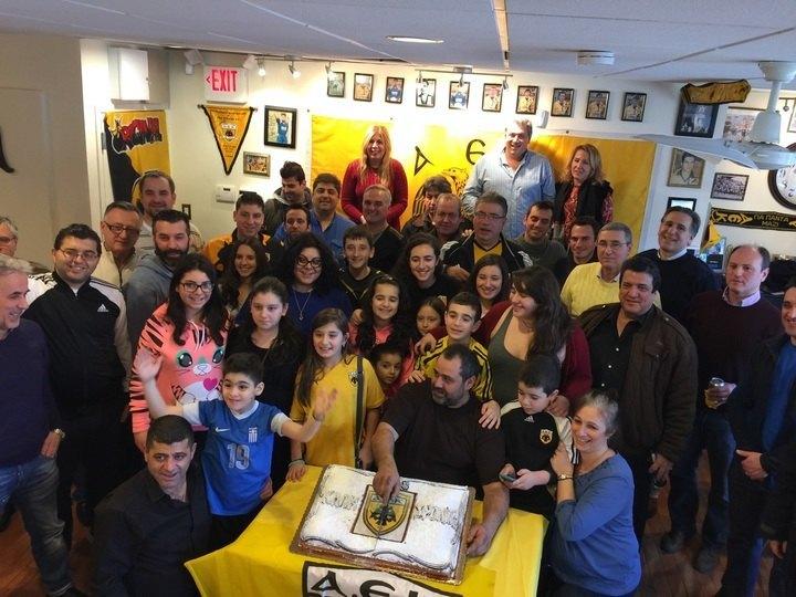 Ο Νοτιάς στην κοπή πίτας του συνδέσμου της ΑΕΚ στη Νέα Υόρκη