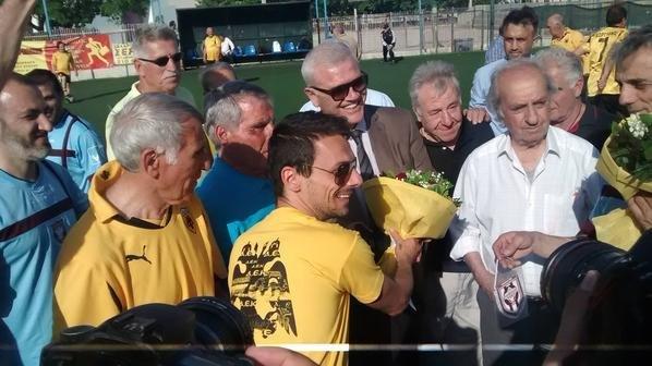 Ο Μελισσανίδης στο φιλικό των παλαιμάχων της ΑΕΚ με την Ελλάς Ποντιών (ΦΩΤΟ)
