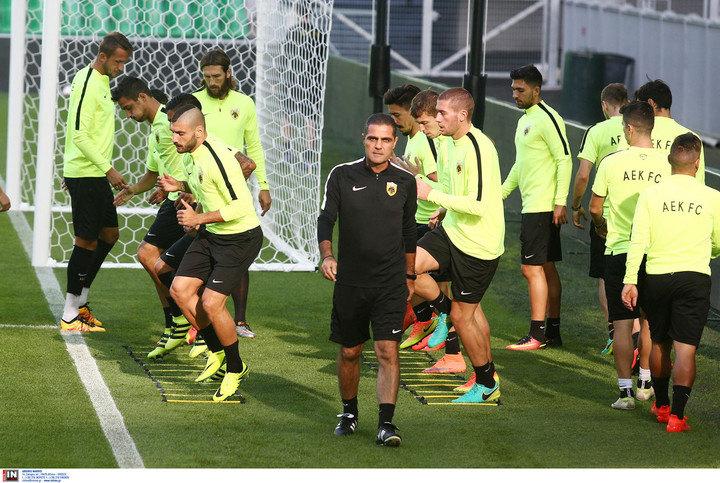Εικόνες από την τελευταία προπόνηση της ΑΕΚ πριν το ματς με την Σεντ Ετιέν