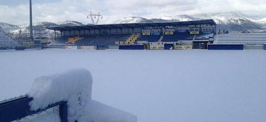 Εντονη χιονόπτωση στην Τρίπολη – Αγωνία για την διεξαγωγή του αγώνα