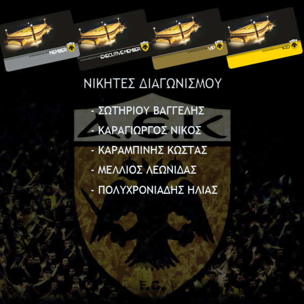 Οι μεγάλοι νικητές των καρτών διαρκείας του enwsi.gr (ΦΩΤΟ)