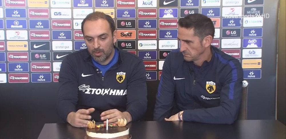 Ο Μανόλο έσβησε κεράκι στην τούρτα... διά χειρός Λυμπερόπουλου (ΦΩΤΟ)