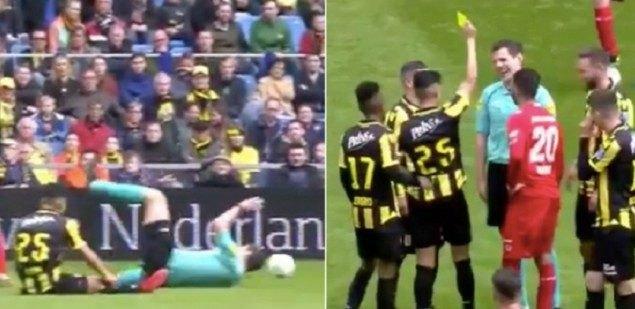 Παίκτης στην Ολλανδία έβγαλε κίτρινη κάρτα στον διαιτητή! (VIDEO)