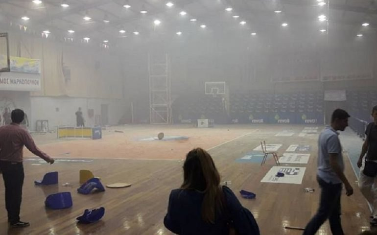 Απίστευτα επεισόδια και οριστική διακοπή σε αγώνα μπάσκετ στο Μαρκόπουλο!