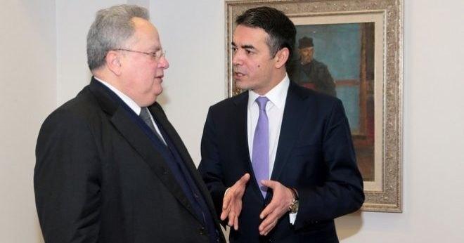 """Σε """"πλαίσιο συμβιβασμού"""" συμφώνησαν Κοτζιάς - Ντιμιτρόφ για το Σκοπιανό"""
