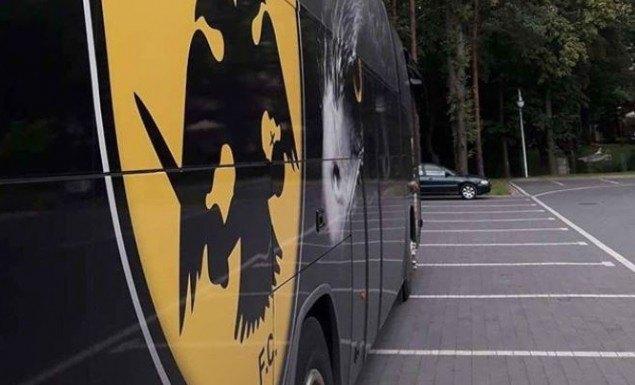 Το πούλμαν της ΑΕΚ βρίσκεται ήδη στο Κίελτσε (ΦΩΤΟ)