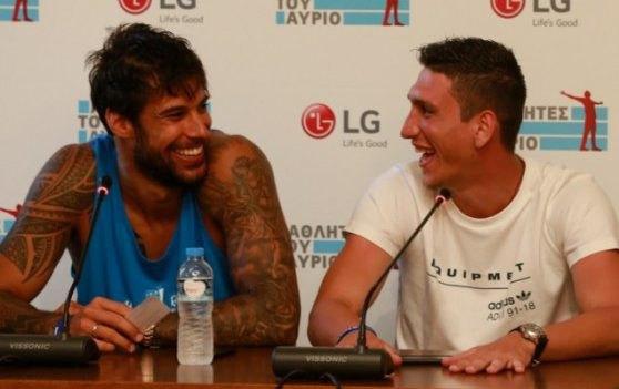 O Λαρεντζάκης συνάντησε τους «LG Αθλητές του Αύριο» στη Σύρο (ΦΩΤΟ)