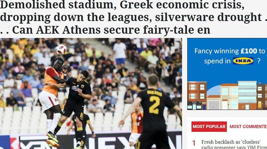 «Μετά από 24 χρόνια που η ΑΕΚ υπέφερε, ζει ελληνικό παραμύθι με άγνωστη κατάληξη»