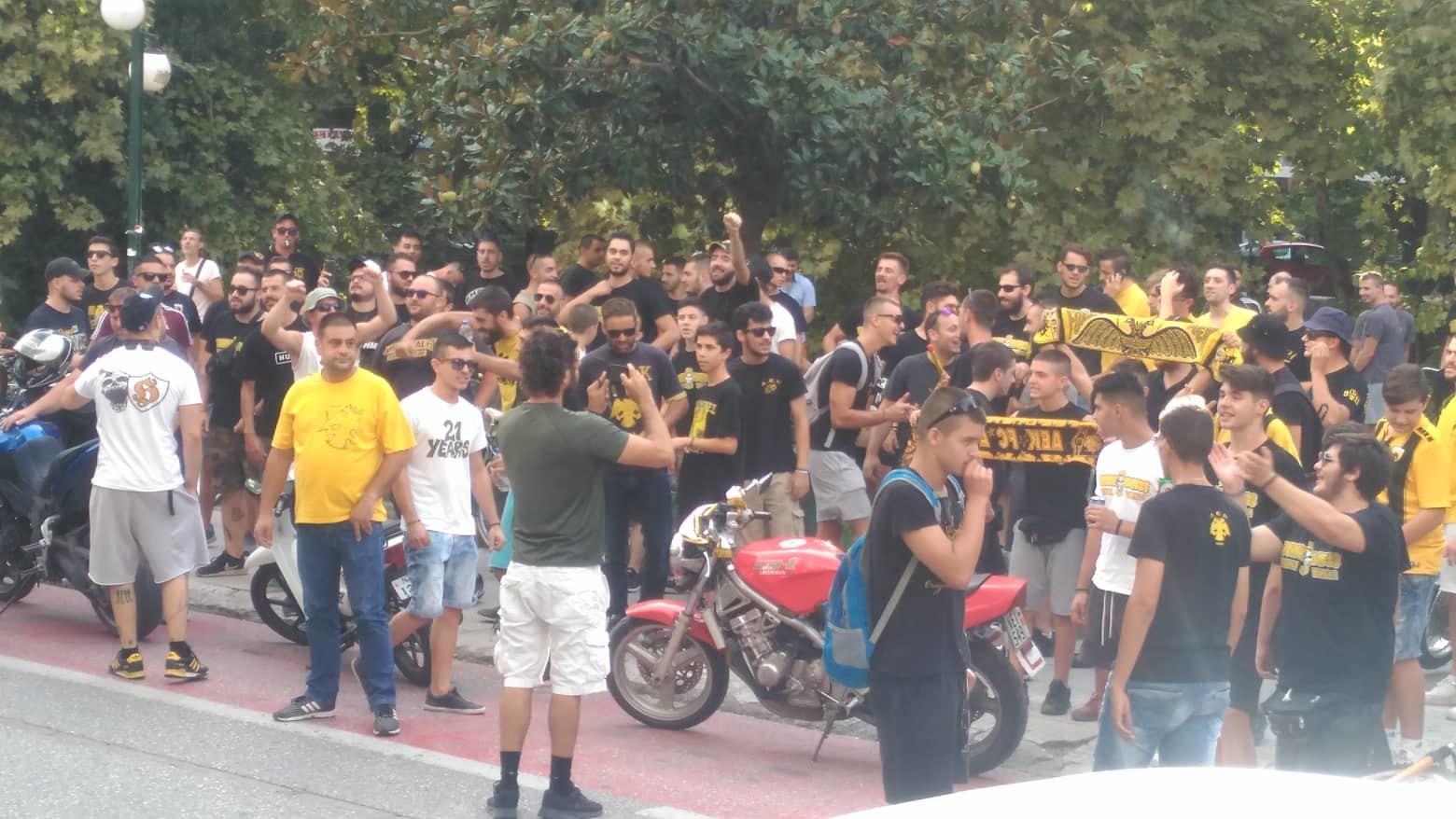 Πανικός στα Τρίκαλα -Εκατοντάδες οπαδοί πάνε... συνοδεία την ΑΕΚ στο γήπεδο! (ΦΩΤΟ-VIDEO))