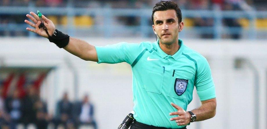 Ο Κουμπαράκης σφυρίζει το ματς Κυπέλλου Απόλλων Λάρισας-ΑΕΚ