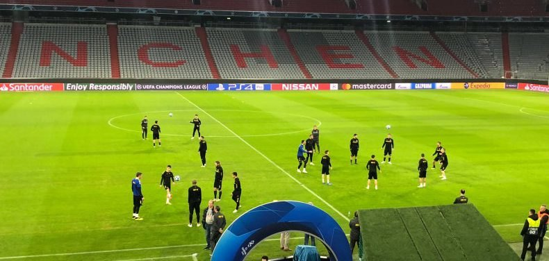 Η προπόνηση της ΑΕΚ στο «Allianz Arena» (ΦΩΤΟ-VIDEO)