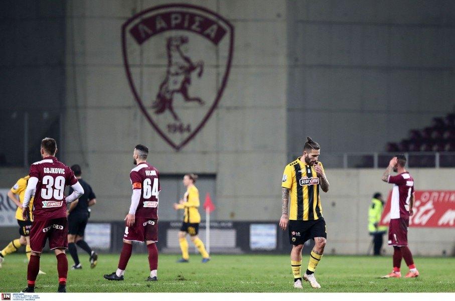 Η ΑΕΚ πέταξε δύο βαθμούς ακόμα στο χωράφι της Λάρισας