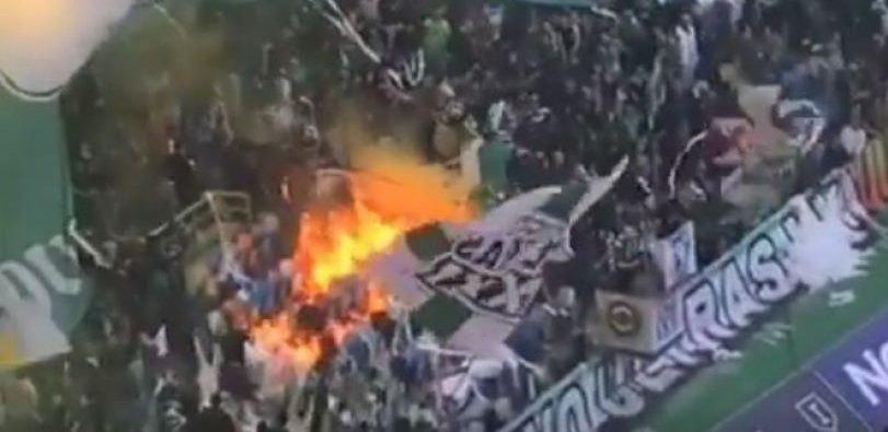 Παραλίγο τραγωδία στο Σπόρτινγκ-Πόρτο – Φωτιά στην κερκίδα (VIDEO)