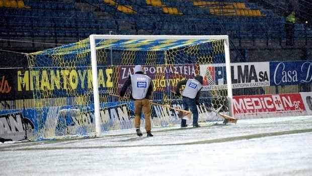 Τι γίνεται με το Αστέρας Τρίπολης-ΠΑΟΚ, γεμάτο χιόνι το γήπεδο