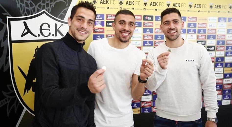 Λαμπρόπουλος, Κλωναρίδης και Μπακασέτας κέρδισαν το φλουρί στην ΑΕΚ! (ΦΩΤΟ)
