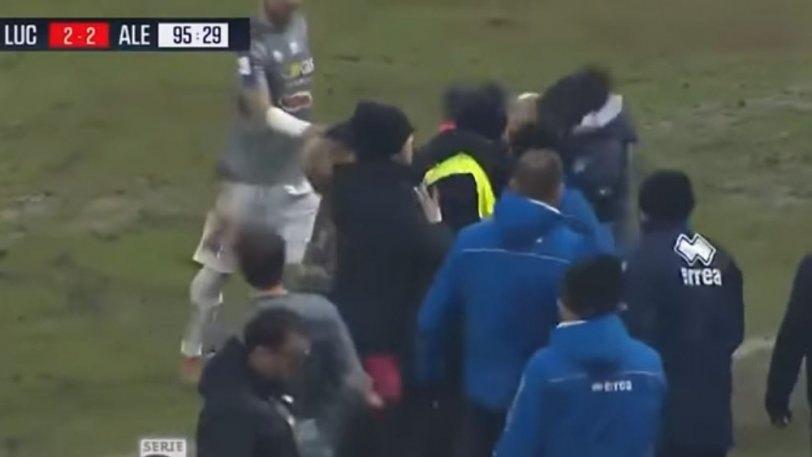 Προπονητής έριξε αντίπαλο με κουτουλιά στην Ιταλία (VIDEO)