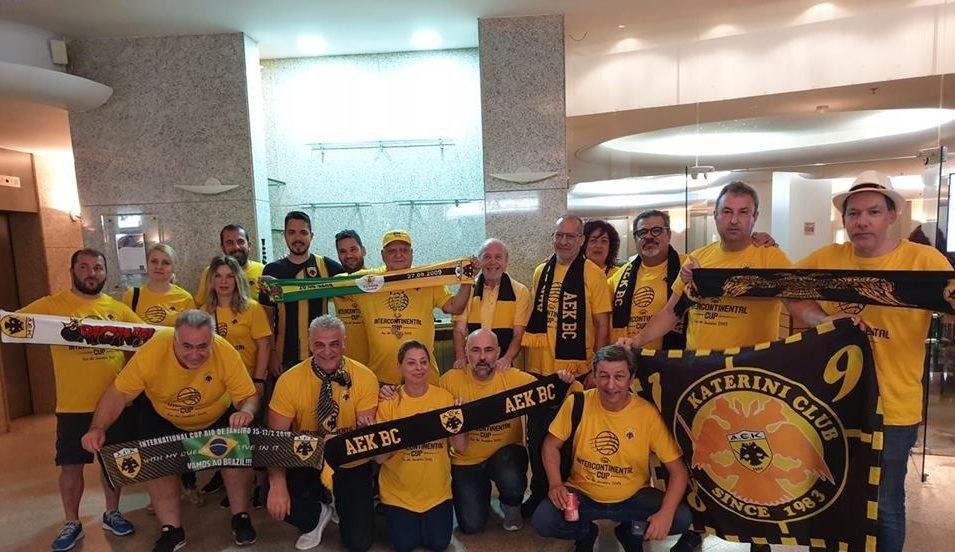 Ετοιμοι να κερδίσουν την «μάχη της εξέδρας» οι ΑΕΚτζήδες στη Βραζιλία!
