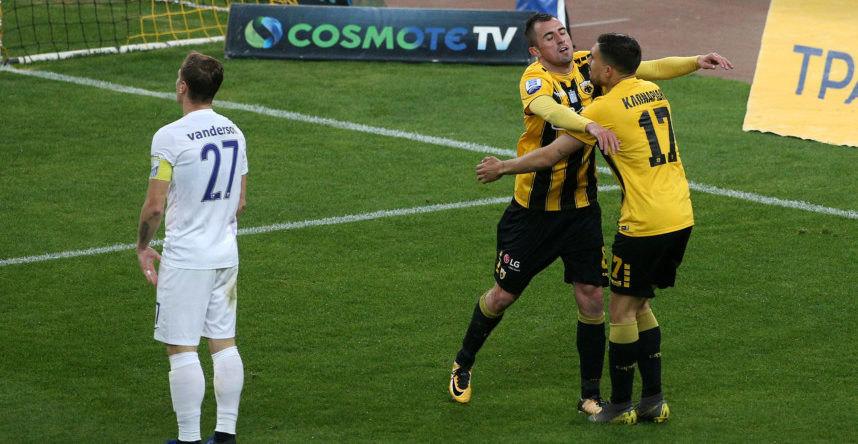 Φάσεις και γκολ από το ΑΕΚ-Λαμία 2-0 (VIDEO)