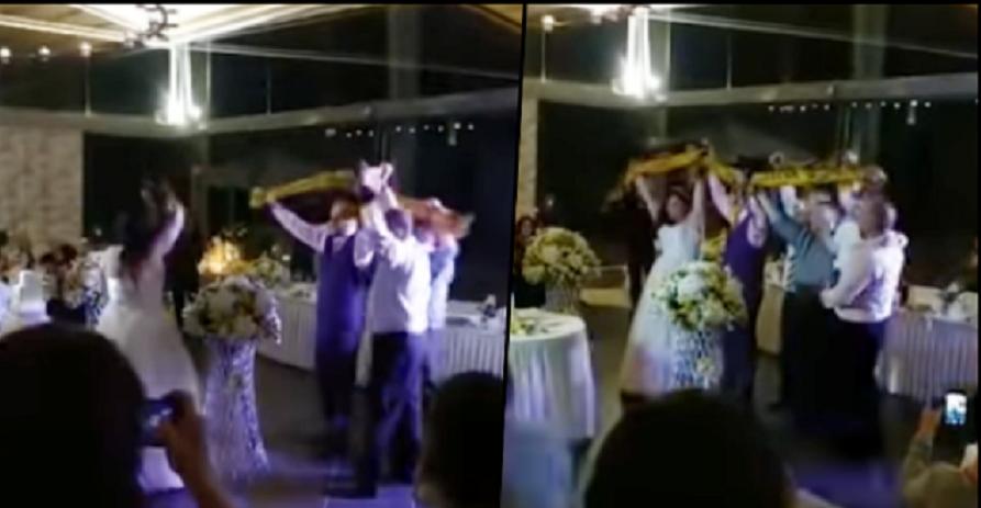 Ενας γάμος με... άρωμα ΑΕΚ (VIDEO)