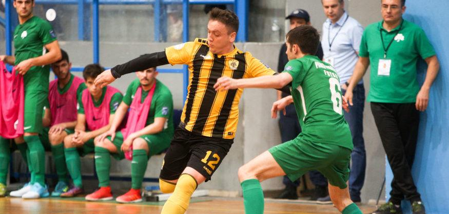 Εικόνες από το Παναθηναϊκός - ΑΕΚ στο Futsal