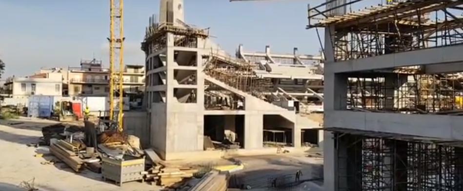Προχωρούν οι εργασίες στο νότιο πέταλο της «Αγιά Σοφιάς» (VIDEO)