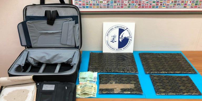 Επιασαν 76χρονο Γερμανό στο Ελ. Βενιζέλος με πάνω από 4 κιλά ναρκωτικά στις βαλίτσες