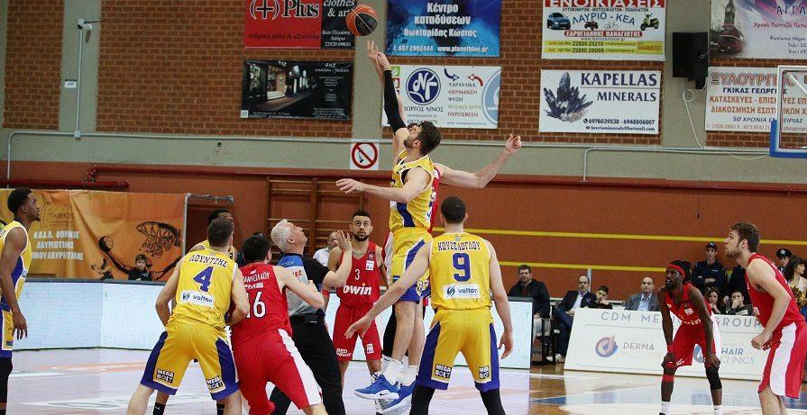 Μένει το Λαύριο στην Basket League, πέφτουν Ολυμπιακός - Κολοσσός Ρόδου στην Α2