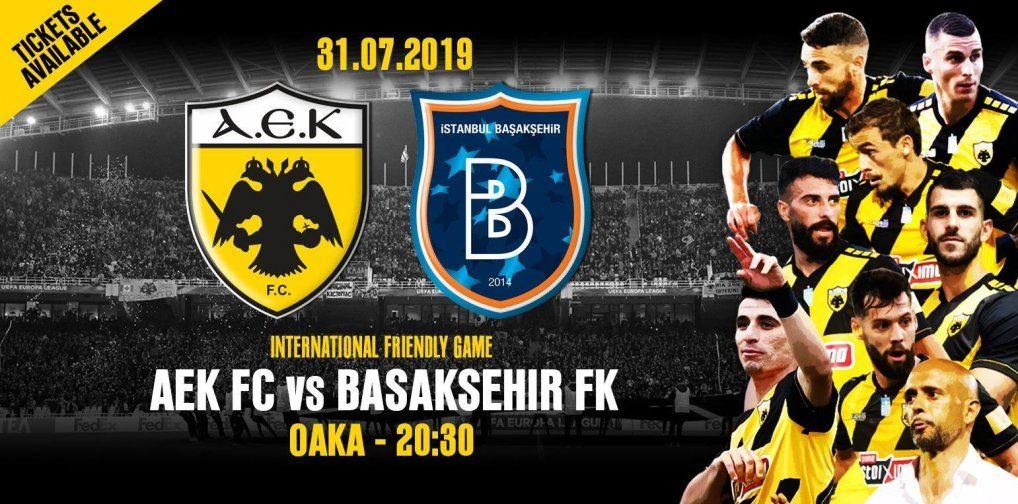 Κυκλοφόρησαν τα εισιτήρια για το φιλικό της ΑΕΚ με την Μπασάκσεχιρ, από Δευτέρα στα εκδοτήρια