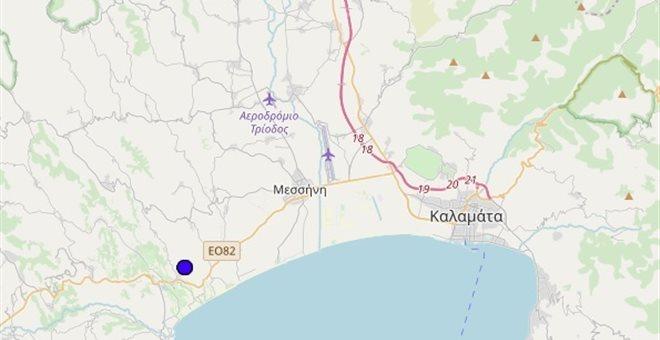 Σεισμός 3,8 Ρίχτερ τα ξημερώματα στην Καλαμάτα