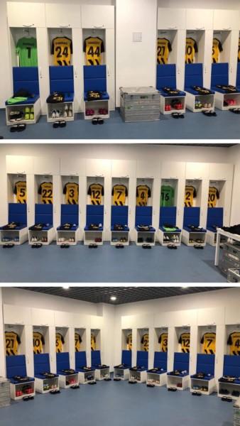 Ετοιμα τα αποδυτήρια της ΑΕΚ για το ματς με την Κραϊόβα! (ΦΩΤΟ)