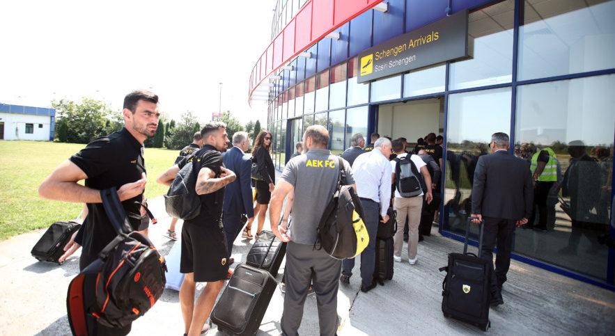 Εφτασε στην Κραϊόβα η ΑΕΚ (VIDEO)