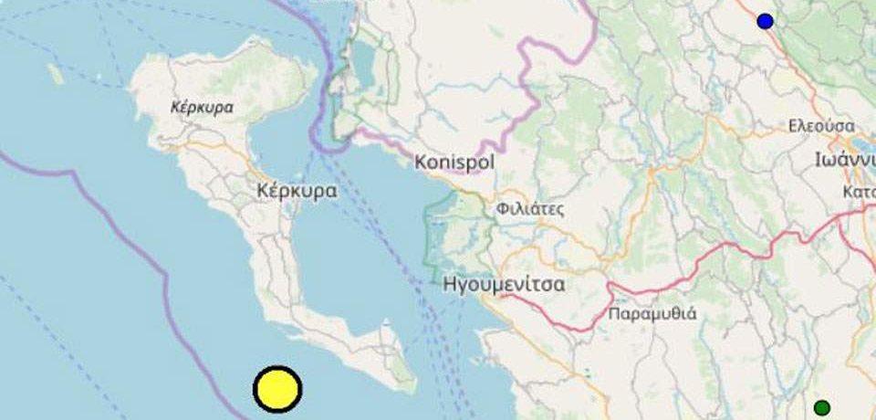 Σεισμός 4 Ρίχτερ στην Κέρκυρα