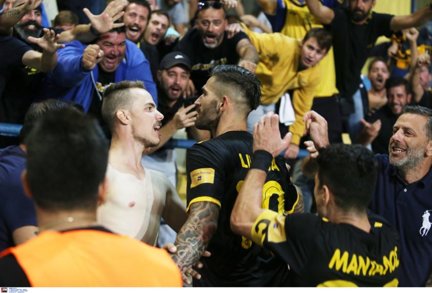 Τρέλα στο γκολ του Λιβάγια στο Αγρίνιο (ΦΩΤΟ)