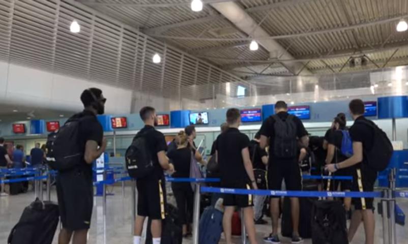 Η αναχώρηση της ΑΕΚ για το Βελιγράδι (VIDEO)
