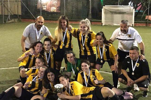 Οι πρωταθλήτριες της ΑΕΚ σε διεθνή φιλικό αγώνα στο Λουτράκι