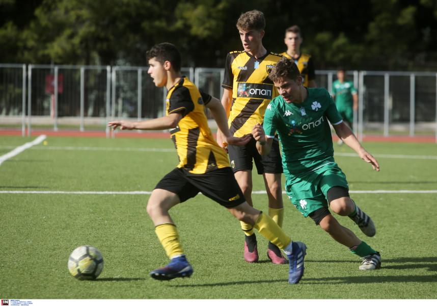 Εικόνες από το ματς της ΑΕΚ Κ15 με τον Παναθηναϊκό