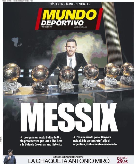 Απίστευτα τα πρωτοσέλιδα του ισπανικού Τύπου για τον Μέσι: «Το ποδόσφαιρο έχει μόνο έναν Θεό» (ΦΩΤΟ)