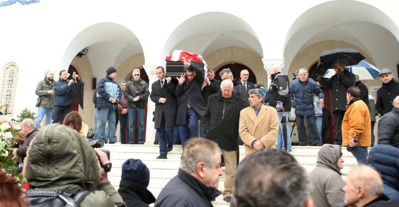 Η ΠΑΕ ΑΕΚ απέστειλε στεφάνι στην κηδεία του Ηλία Ρωσίδη (ΦΩΤΟ)