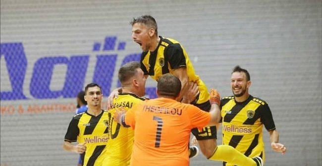 Futsal: Ολόκληρος ο αγώνας της ΑΕΚ με το Νέο Ικόνιο (VIDEO)