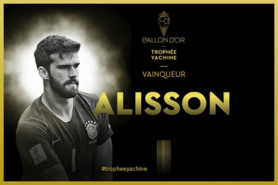 Χρυσή Μπάλα: Καλύτερος τερματοφύλακας ο Άλισον