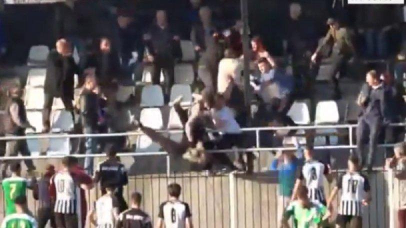 Έπεσε άγριο ξύλο σε παιχνίδι Γ' Εθνικής! (VIDEO)