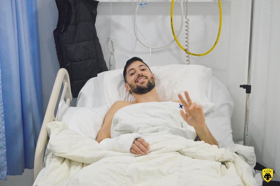 Βγήκε από το χειρουργείο ο Γκίκας - Ξεκινά άμεσα αποκατάσταση (ΦΩΤΟ)
