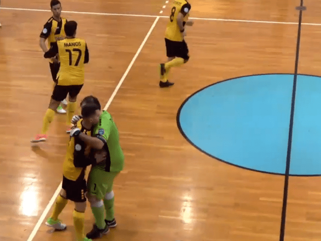Όλος ο αγώνας της ΑΕΚ με τον Ερμή για το Futsal (VIDEO)