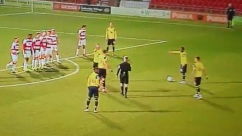 Διαιτητής στην Αγγλία δεν ήξερε να ορίσει την απόσταση του τείχους από τη μπάλα! (VIDEO)