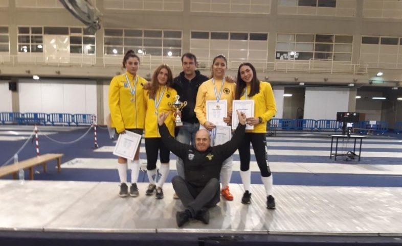 Πρωταθλήτρια Νέων η ΑΕΚ στην ξιφασκία