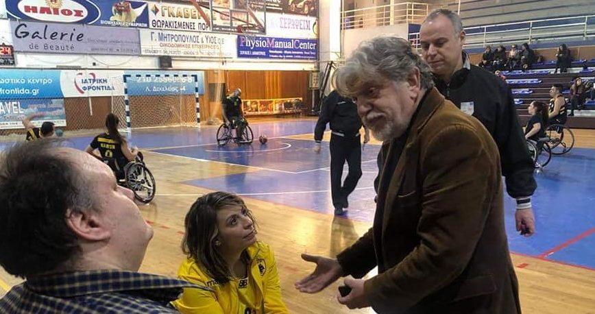 Βούρος: «Αποτελεί τιμή να δίνει αγώνες στην πόλη μας, η ομάδα μπάσκετ με αμαξίδιο της ΑΕΚ!» (ΦΩΤΟ)