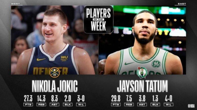 ΝΒΑ: Παίκτες της εβδομάδας οι Γιόκιτς και Τέιτουμ