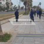 Απαγόρευση κυκλοφορίας: Αυστηροί έλεγχοι και κλούβα στον Φλοίσβο (ΦΩΤΟ)
