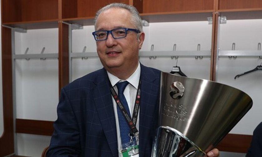 Γκεραρντίνι: «Αδύνατο να βρεθεί πλάνο για να ξεκινήσει πάλι η Euroleague»
